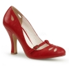 SMITTEN-20 Red Faux Leather